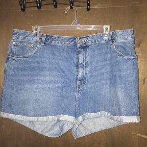 ASOS Denim mom jean shorts